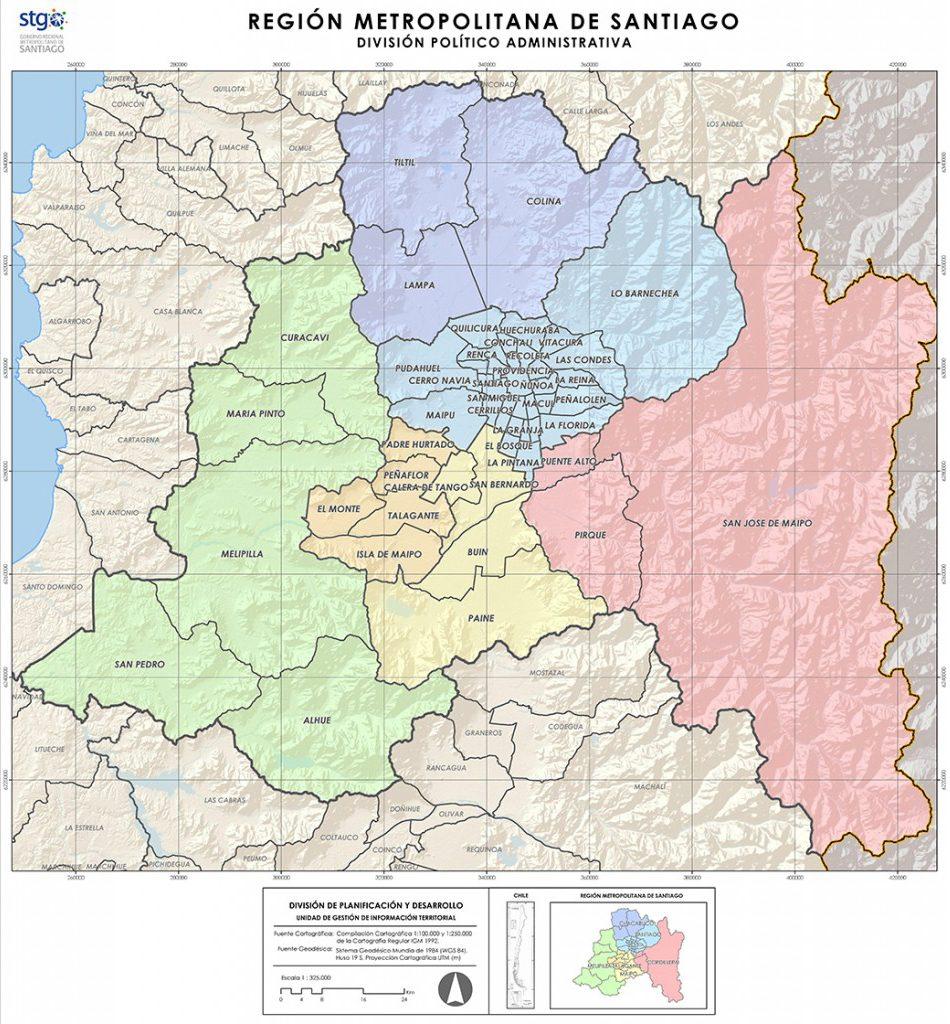 Datos Geograficos Gobierno Regional Metropolitano De Santiago